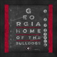 Georgia Bulldogs Eye Chart