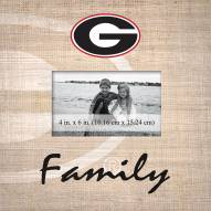 Georgia Bulldogs Family Picture Frame