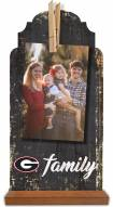 Georgia Bulldogs Family Tabletop Clothespin Picture Holder