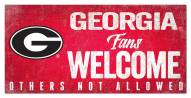 Georgia Bulldogs Fans Welcome Sign