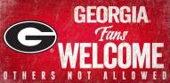 Georgia Bulldogs Fans Welcome Wood Sign