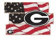 Georgia Bulldogs Flag 3 Plank Sign