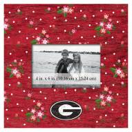 "Georgia Bulldogs Floral 10"" x 10"" Picture Frame"