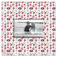 "Georgia Bulldogs Floral Pattern 10"" x 10"" Picture Frame"