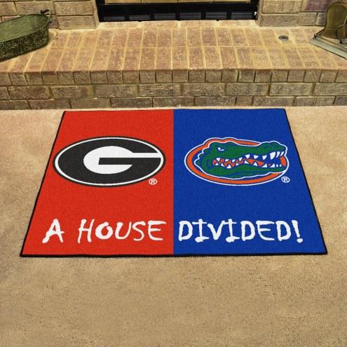 Georgia Bulldogs/Florida Gators House Divided Mat