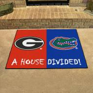 Georgia Bulldogs/Florida Gators House Divided Mat
