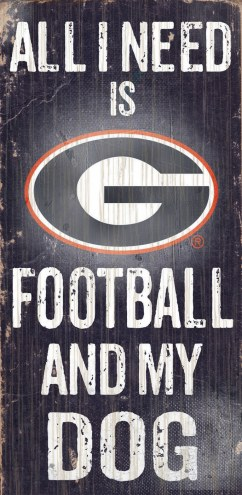 Georgia Bulldogs Football & Dog Wood Sign