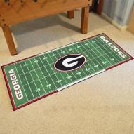 Georgia Bulldogs Football Field Runner Rug