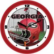 Georgia Bulldogs Football Helmet Wall Clock