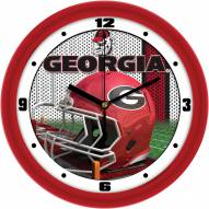 Georgia Bulldogs Football Helmet Wall Clock
