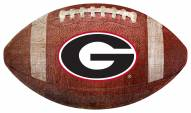 Georgia Bulldogs Football Shaped Sign