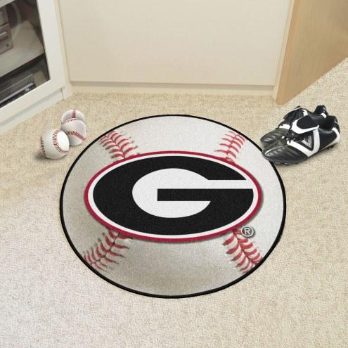 "Georgia Bulldogs ""G"" Baseball Rug"