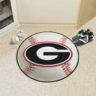 "Georgia Bulldogs ""G"" Baseball Rug"