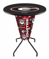 Georgia Bulldogs Indoor Lighted Pub Table