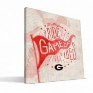 Georgia Bulldogs Gameday Vibes Canvas Print