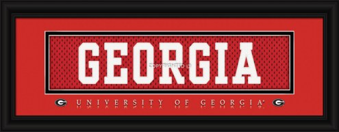"Georgia Bulldogs ""Georgia"" Stitched Jersey Framed Print"