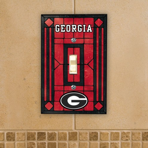 Georgia Bulldogs Glass Single Light Switch Plate Cover