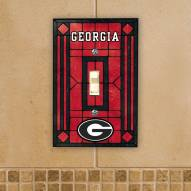 Georgia Bulldogs Glass Single Light Switch Plate Cover