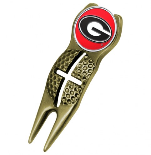 Georgia Bulldogs Gold Crosshairs Divot Tool