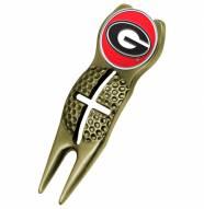 Georgia Bulldogs Gold Crosshairs Divot Tool