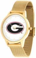 Georgia Bulldogs Gold Mesh Statement Watch