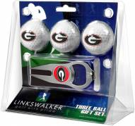 Georgia Bulldogs Golf Ball Gift Pack with Hat Trick Divot Tool