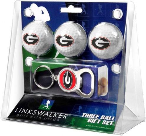 Georgia Bulldogs Golf Ball Gift Pack with Key Chain