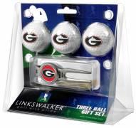 Georgia Bulldogs Golf Ball Gift Pack with Kool Tool