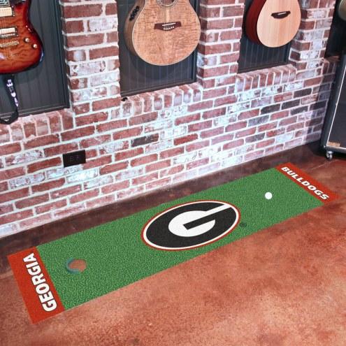 Georgia Bulldogs Golf Putting Green Mat