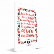 Georgia Bulldogs Hand-Painted Song Canvas Print