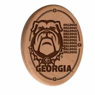 Georgia Bulldogs Laser Engraved Wood Sign