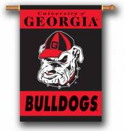 "Georgia Bulldogs Head Premium 28"" x 40"" Two-Sided Banner"