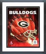 Georgia Bulldogs Helmet Composite Framed Photo