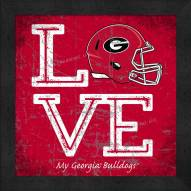 Georgia Bulldogs Love My Team Color Wall Decor