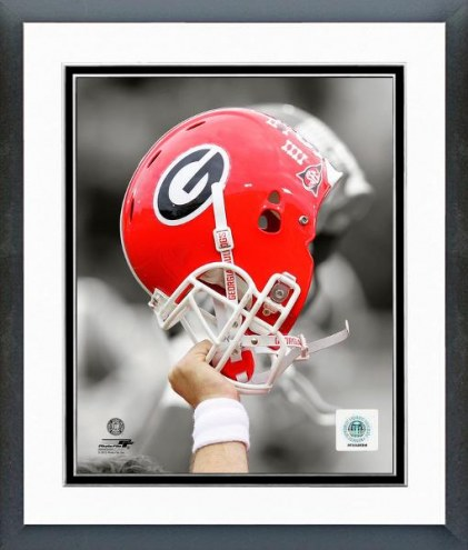 Georgia Bulldogs Helmet Spotlight Framed Photo