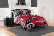 Georgia Bulldogs Hexagon Full/Queen Comforter & Shams Set