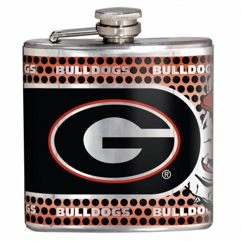 Georgia Bulldogs Hi-Def Stainless Steel Flask
