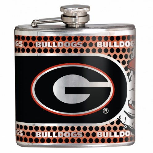 Georgia Bulldogs Hi-Def Stainless Steel Flask