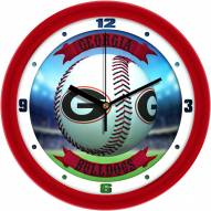 Georgia Bulldogs Home Run Wall Clock