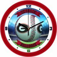 Georgia Bulldogs Home Run Wall Clock
