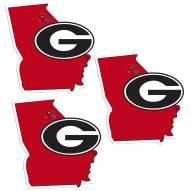 Georgia Bulldogs Home State Decal - 3 Pack