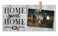 Georgia Bulldogs Home Sweet Home Clothespin Frame
