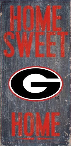 Georgia Bulldogs Home Sweet Home Wood Sign