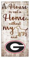 Georgia Bulldogs House is Not a Home Sign