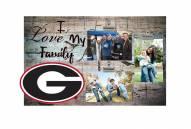 Georgia Bulldogs I Love My Family Clip Frame