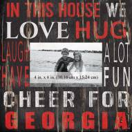 "Georgia Bulldogs In This House 10"" x 10"" Picture Frame"