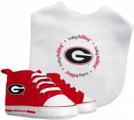 Georgia Bulldogs Infant Bib & Shoes Gift Set