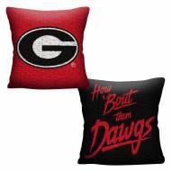 Georgia Bulldogs Invert Woven Pillow