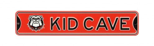 Georgia Bulldogs Kid Cave Street Sign