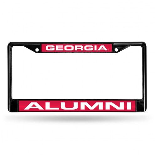 Georgia Bulldogs Laser Black License Plate Frame